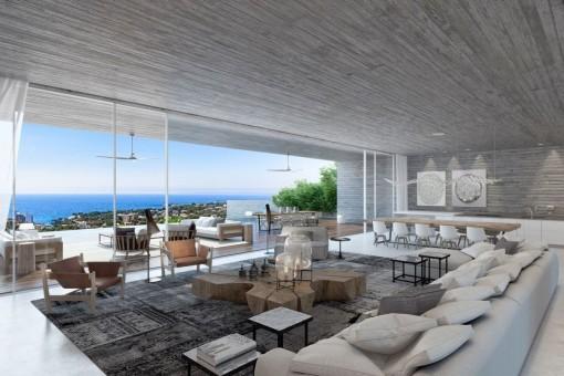 Moderne luxusvilla kaufen  Moderne Luxusvilla mit Meerblick in Puerto Portals - kaufen
