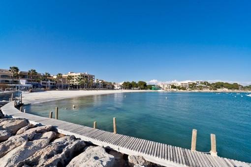 Blick auf das Mittelmeer in Colonia Sant jordi