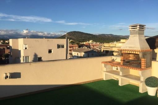 Atico in Son Ferrer mit Blick auf die Berge