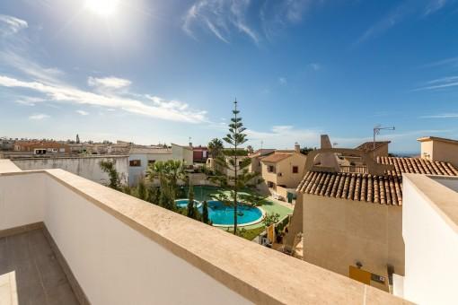 Blick vom Balkon auf Vallgonera
