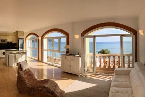 Schöne Wohnung in Son Servera mit atemberaubendem Blick in kleiner Anlage mit Gemeinschaftspool