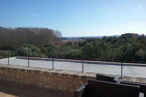 Panoramablick auf die Umgebung