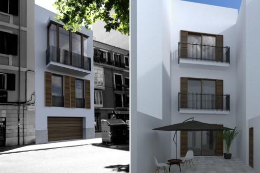 Elegantes, helles Stadthaus im Herzen der Altstadt von Palma mit Garage und Dachterrasse