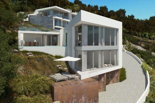 Moderne Neubau-Villa in der Nähe des Strandes in Santa Ponsa
