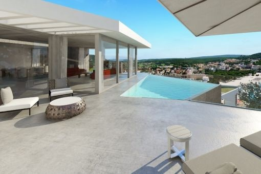 Neubau Designer-Villa mit Meerblick in Santa Ponsa