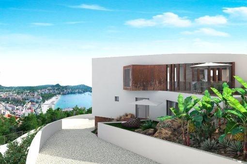 Moderne Luxusvilla im Bau in Santa Ponsa