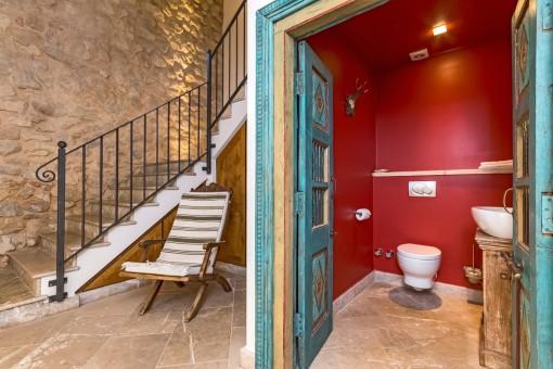 Gästetoilette der Finca