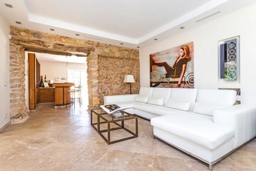 Loungebereich der Finca