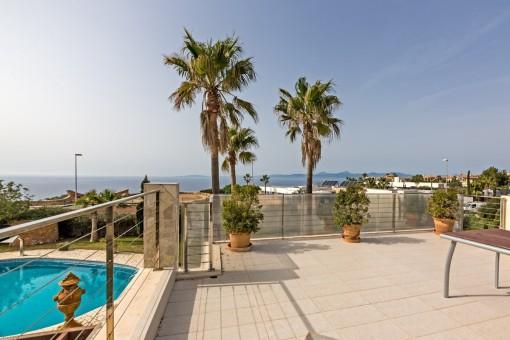Exklusiver Blick auf die Bucht von Palma