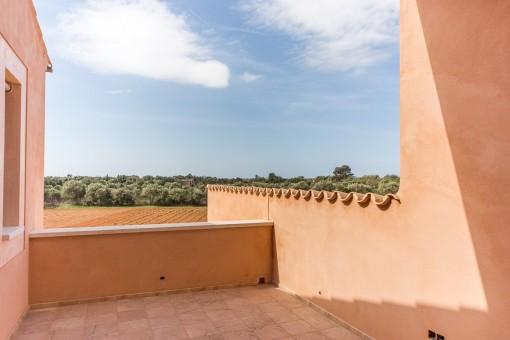 Blick von der oberen Terrasse