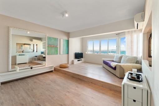 Helles Apartment mit spektakulärem Meerblick in El Terreno