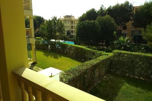 Unmöblierte Wohnung in sehr gepflegter Anlage in Nova Santa Ponsa