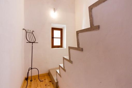 Zugang zum oberen Stock
