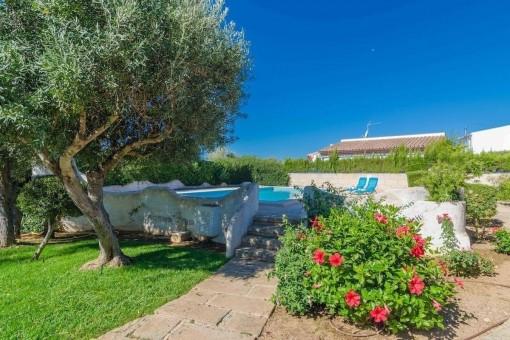 Mediterraner Garten mit Poolbereich