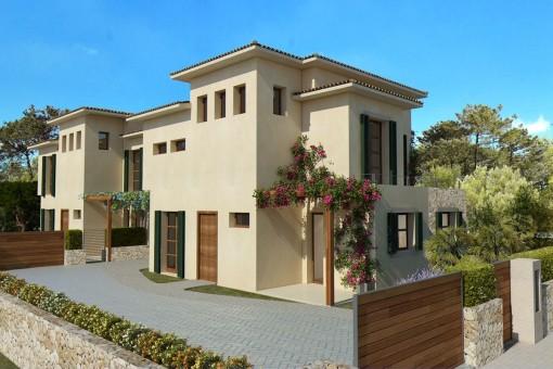 Zufahrt zur familienfreundlichen Villa in Cala Bona