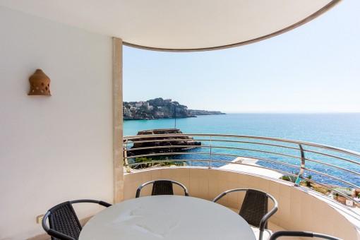 Vistas unicas al mar desde el balcón
