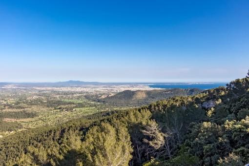 Blick auf das Mittelmeer von der Finca