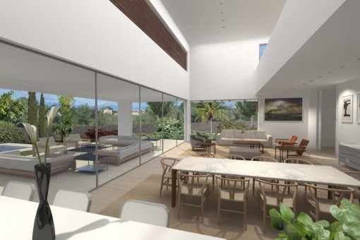 Essbereich mit Panoramafenster