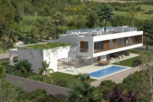 Helle, moderne Neubau-Villa in Sol de Mallorca