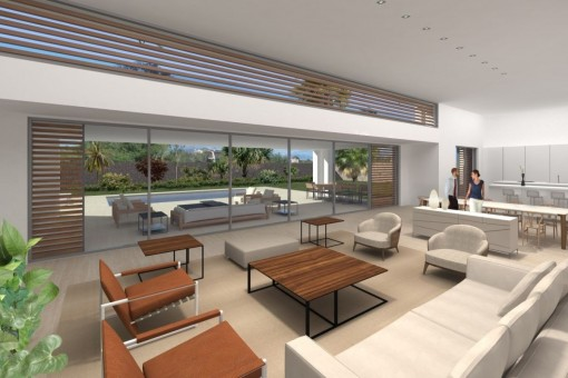 Wohnbereich mit Panoramafenster