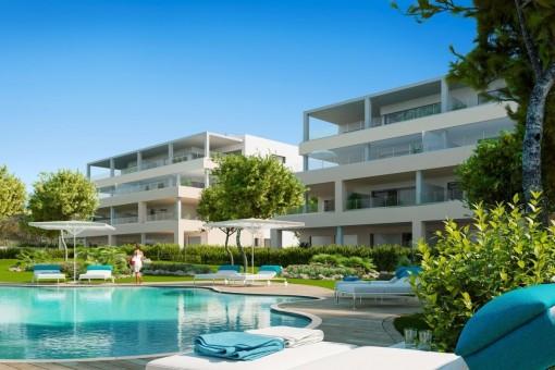 Wohnungen im Bau in hervorragender Lage in Santa Ponsa
