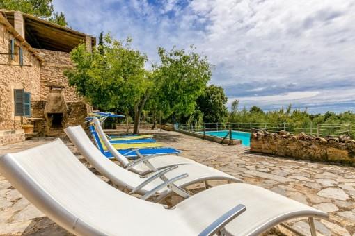 Entspannungsbereich auf der Terrasse
