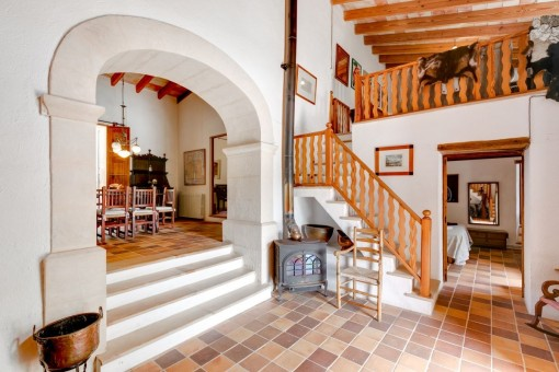 Eingangshalle der Finca