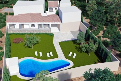 Attraktives Neubauprojekt in Andratx mit Baugenehmigung