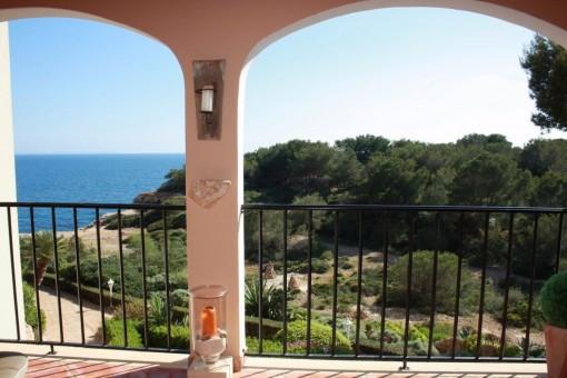 Apartment in erster Meereslinie mit Blick auf die Insel Cabrera