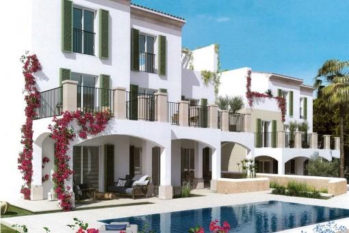 12 neue Duplex-Wohnungen und 2 Penthäuser in Cala Santanyi