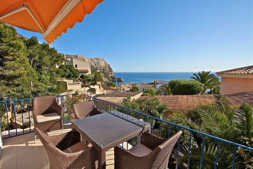 Apartment mit fantastischem Meerblick in der Cala Llamp