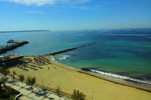 Traumhaftes Apartment in erster Meereslinie in Portixol