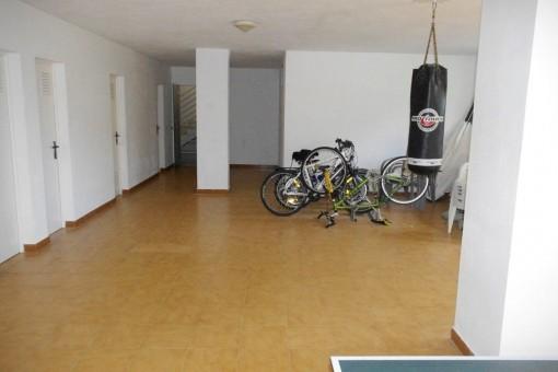 Abstellfläche des Apartments