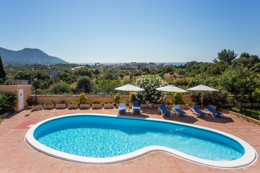 Beeindruckende Finca mit außergewöhnlichem Panoramablick in Son Servera