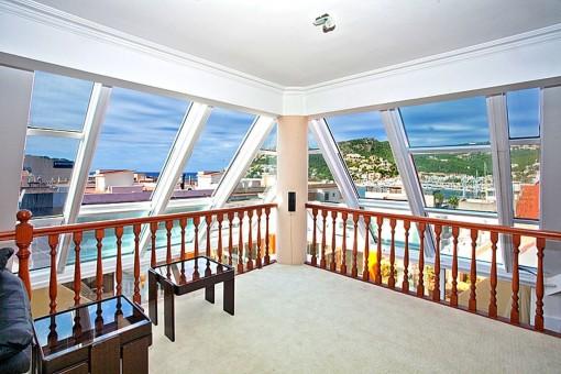 Extravagantes Penthouse im Loftstil im Herzen von Puerto de Andratx