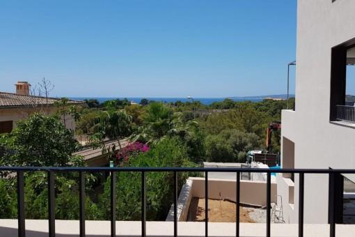 Tolle Erdgeschosswohnung mit Meerblick zum Erstbezug in einer Luxusanlage in La Bonanova