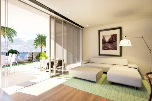 Fantastisches Neubau-Apartment mit direktem Strandzugang