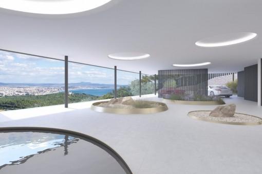 Eingangsbereich mit Panoramafenster
