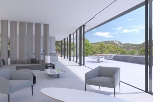 Komfortabler Loungebereich