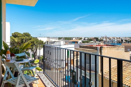Tolles Penthouse mit traumhaftem Blick über den Hafen in Porto Colom