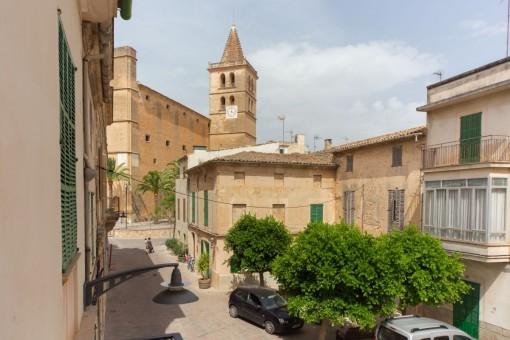 Einzigartiges Stadthaus mit Blick auf die Kirche in Porreres