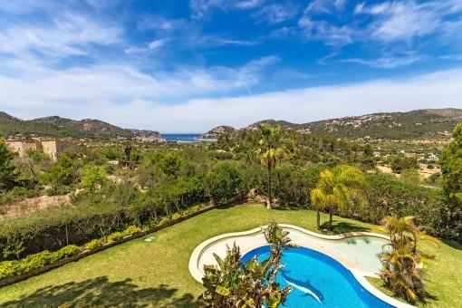 Traumhaftes Finca-Anwesen bei Puerto Andratx mit Blick auf den Hafen und absoluter Privatsphäre