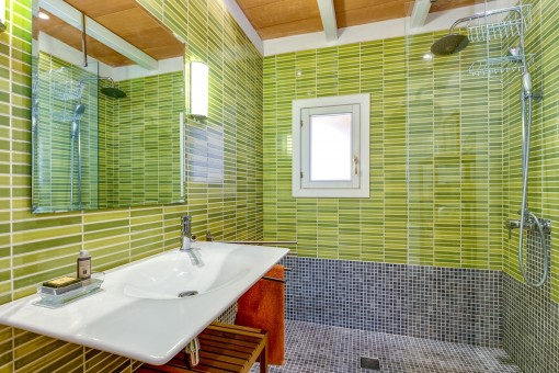 Grünes Badezimmer en suite