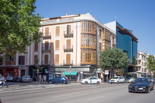 Tolle Penthaus-Wohnung in antikem aber neu renovierten Gebäude mitten im Zentrum Palmas
