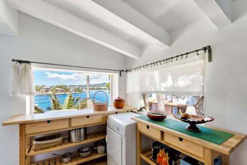 Tolle Meerblick-Küche