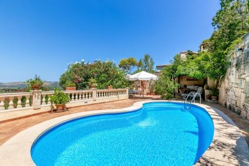 Großes Chalet mit Pool und Gästeapartment an der Costa de Canyamel