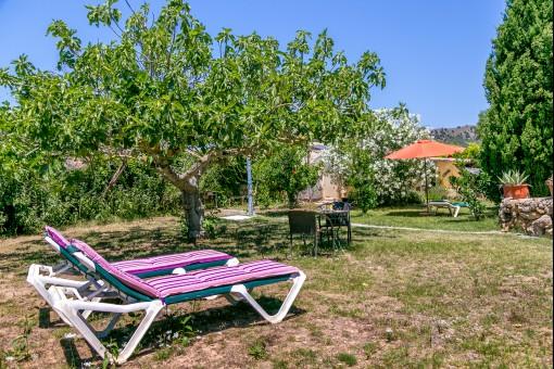 Entspannungsbereich im Garten