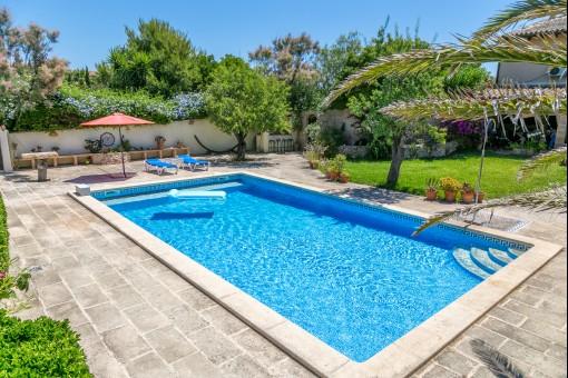 Finca mit beheizbarem Pool,  traumhaftem Garten und einem separaten Gästehaus in Capdepera