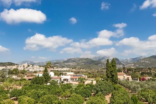 Aussicht auf die Berge und Panoramablick
