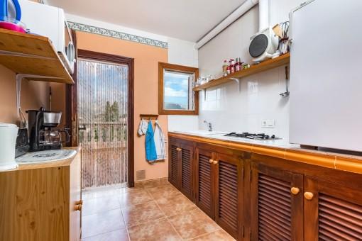 Voll ausgestattete Küche im Gästeapartment